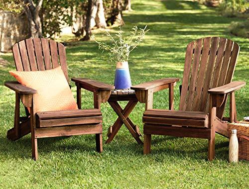 Teal Island Designs Fletcher Reclining Adirondack Dark Natural Chair