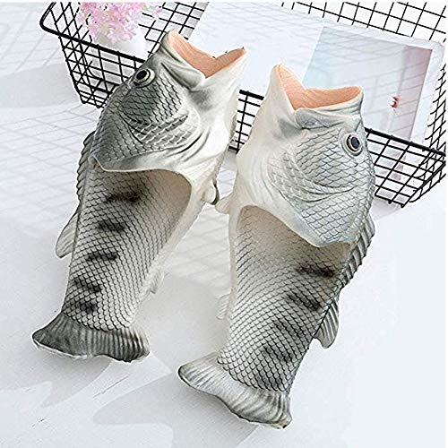 Soft and Women Men Shoes Beach Sandals Size Drying Slippers for Fish Quick Silvery Shower Large TqYwXPZ