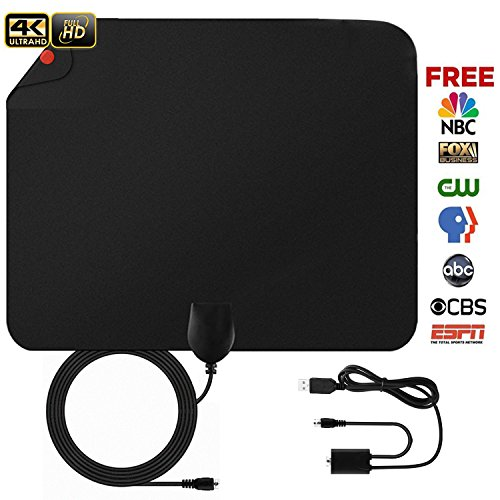 Paper Thin HD Digital TV Antenna – Blimark Portable Indoor Television Antenna with Amplifier Receiving Up to 50~90 Miles Long Range 1080P 4K TV Channels Free Programme Reception 10ft Coaxial Cable For Sale