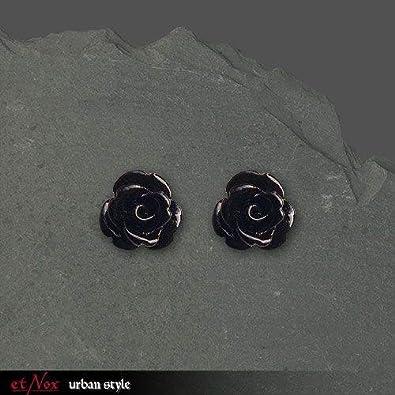 Ohrringe Ohrstecker schwarze Rose 925er Silber Schmuck  Amazon.de  Schmuck 44b194c787
