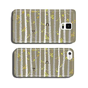 Vector Birch or Aspen Trees with Autumn Leaves and Love Birds cell phone cover case iPhone5