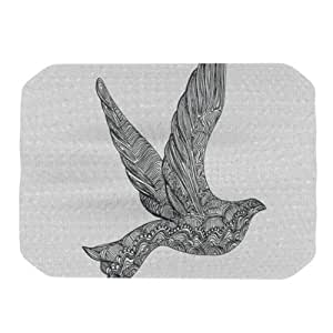 Kess InHouse Belinda Gillies Dove Placemat, 18 by 13-Inch
