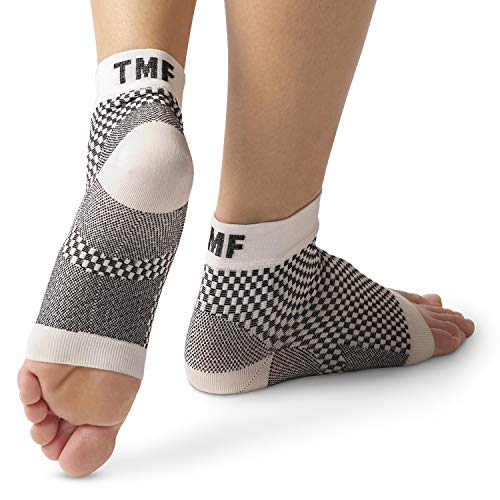 Plantar Fasciitis Socks by Treat My Feet - Ankle Compression Sock Improves Blood Circulation, Achilles Heel Support - Alternative to Plantar Fasciitis Night Splints- FDA Registered Ankle Sleeve (M)