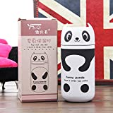 Shop24Hrs Cute Panda Owl Thermos 220ml Stainless Steel Vacuum Cup Travel Mug White Color