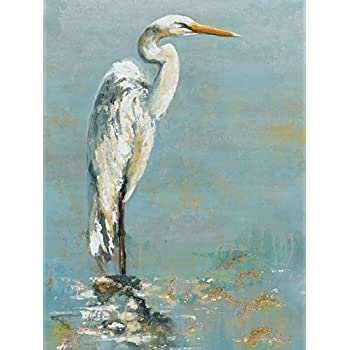 Portfolio Canvas Decor Large Printed Canvas Wall Art Painting, 30 by 40-Inch, Herons I, Framed and Stretched Ready to Hang