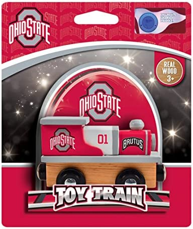 MasterPieces NCAA Ohio State Buckeyes Real Wood Toy Train Engine For Ages 3+