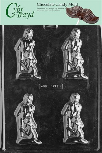 Cybrtrayd XX545 Deep Throat Adult Chocolate Candy Mold with Exclusive Copyrighted Instructions