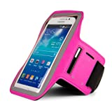 SumacLife Workout Smartphone Armband with Key Slot, XXL Size - Retail Packaging - Magenta