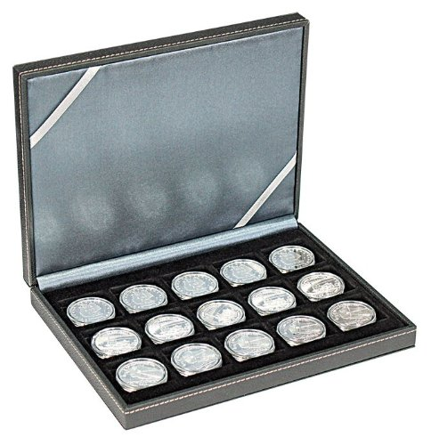 NERA Coin Case S [Lindner 2363-15] - 15 square compartments for coins or capsules with a diameter up to 40 mm
