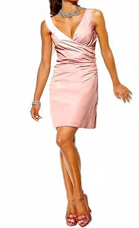 612015a4d54b78 Heine Damen-Kleid Taft-Abendkleid Rosa Größe 34: Amazon.de: Bekleidung