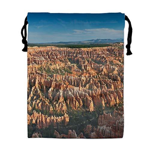 Earth Bryce Canyon Cliff Rock Landscape USA Utah Drawstring Bag Portable Gift Tote - Utah Pack String