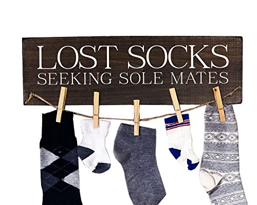 Lost Socks Sign Lost Socks Seeking Sole Mates Laundry Room Decor Laundry Sign Wooden Laundry Sign