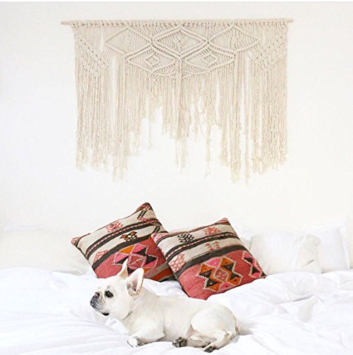 American Knit Bohemian Macrame Wall Hanging Decor Boho Chic Style Macrame Curtain & Macrame Wedding Backdrop Arch 50