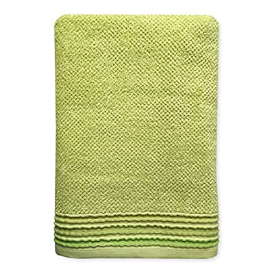 Dena Modern Solid Bath Towel, Green - Pair with other members of the Modern line Made of 100Percent Cotton Machine wash cold with like colors - bathroom-linens, bathroom, bath-towels - 51%2B ycvXHIL. SS400  -