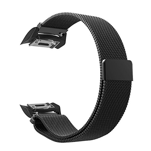 Gear S2 Watch Band [Large], Fintie [Magnet Lock] Milanese Loop Adjustable Stainless Steel Replacement Strap Bands for Samsung Gear S2 SM-R720 / SM-R730 Smart Watch - Black