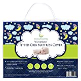 #1 BEST Crib Mattress Pad - Waterproof, Silky Soft, Hypoallergenic, Breathable - Helps Regulate Body Temp- Mattress Protector by Nursery Necessities