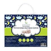 #1 BEST Crib Mattress Pad - Waterproof, Silky Soft, Hypoallergenic, Breathable – Helps Regulate Body Temp- Mattress Protector by Nursery Necessities