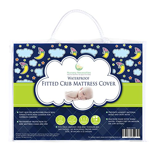 #1 BEST Crib Mattress Pad - Waterproof, Silky Soft, Hypoallergenic, Breathable - Helps Regulate Body Temp- Mattress Protector by Nursery Necessities (Best Breathable Crib Mattress)
