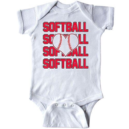 Softball Onesie (inktastic - Softball Love Infant Creeper 6 Months White 19f36)