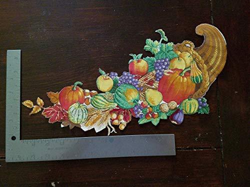 Fall Cornucopia Fall Iron On Applique, Fall Fruit Iron on Applique, Fall Colors Iron on Applique, Fall Theme, Fall Decorations, Appliques, Sewing Applique #2