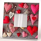 Hearts Collage Art Small Stitched Pillows Wall Framed Mirror Printed Decor Home Room Design Gift