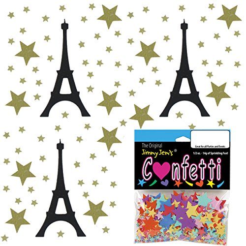 Confetti MultiShape See You In Paris Mix - 4 Half Oz Pouches (2 oz) FREE SHIPPING --- - Priority Mail Is Many How Days