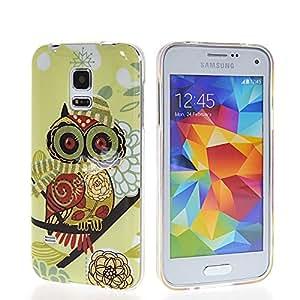 GUANHAO Cute Owl Soft Flexible Gel TPU Silicone Etui Case Cover For Samsung Galaxy S5 Mini