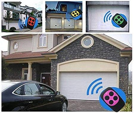 Telecommande Universelle Portail Garage T/él/écommande de Porte de Garage 280MHZ-868MHZ Copie BFT,FAAC,V2 et Genius 4 Boutons Multi-fr/équence Vert