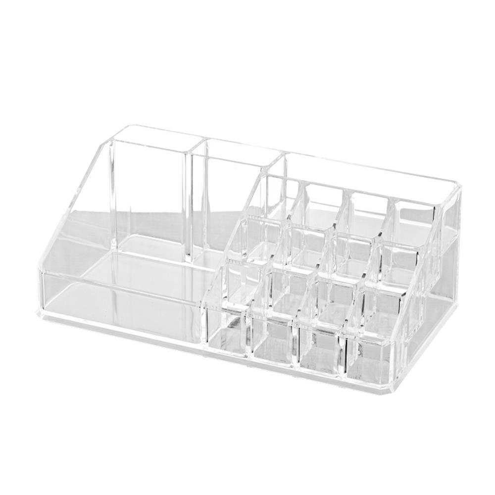 Acrylic Makeup Caddy, Multi Compartment Girls Clear Makeup Caddy with Drawers on Display Acrylic Makeup Organizer for Bathroom, Dresser, Vanity and Countertop
