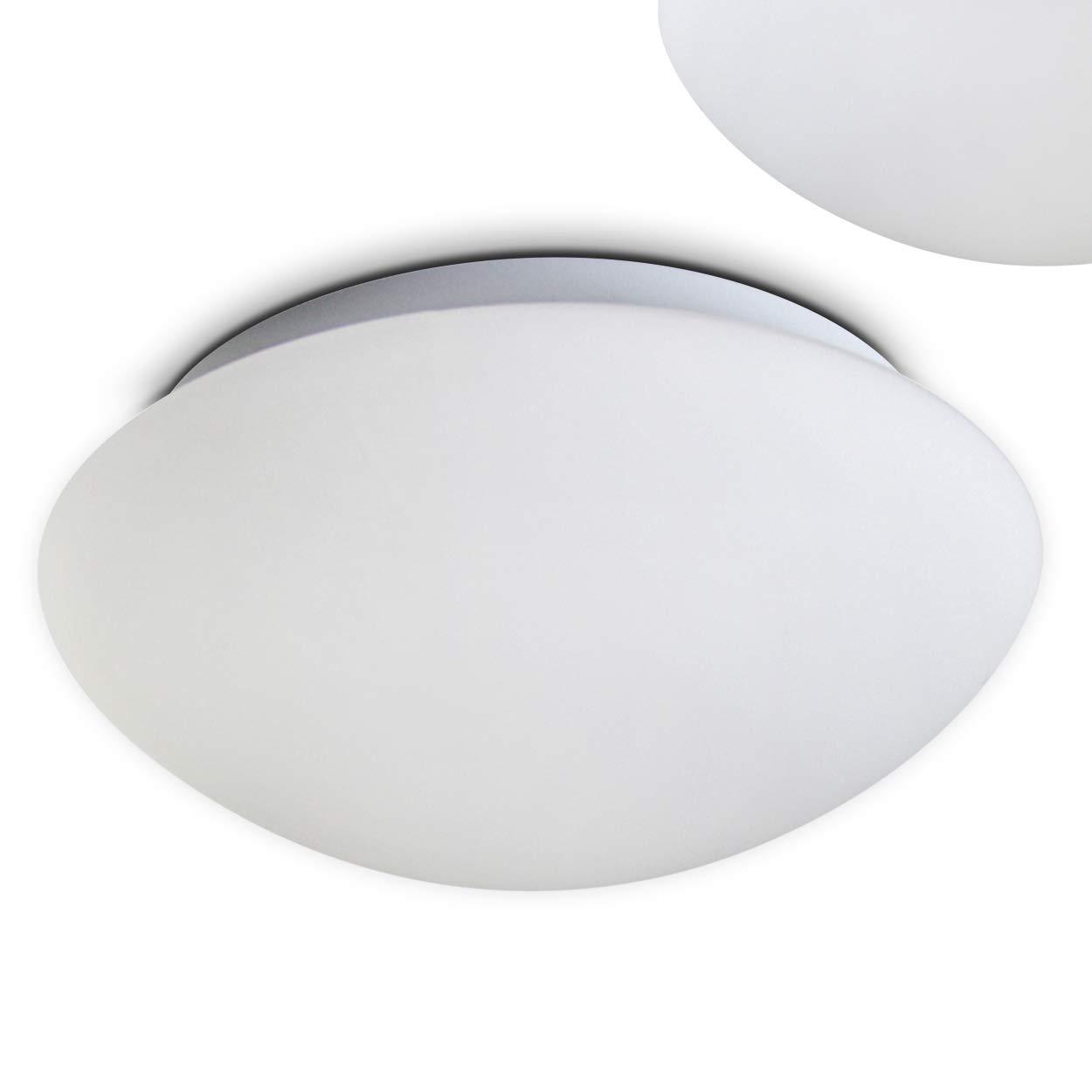 LED Echtglas Deckenleuchte 12 Watt - 2700 Kelvin - 960 Lumen - warmweiss auch für das Bad geeignet H320