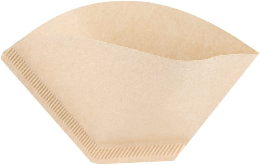 # 1 40 St/ück ungebleichte Filterpapiere in nat/ürlicher Kegelform f/ür Filterkaffeetassen Filterpapiere