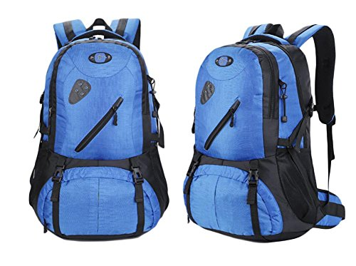 De gran capacidad exterior de la mochila del bolso de hombro de los hombres y las mujeres se trasladan a pie , black Blue