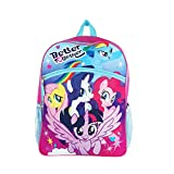 """Hasbro My Little Pony Pink and Purple 16"""" Backpack Essentials Set for Girls"""