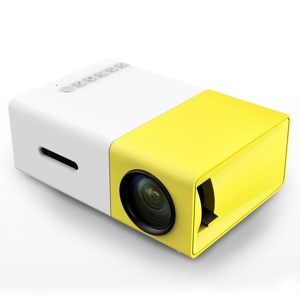 Amazon.com: Portable mini projector LED micro projector home party ...