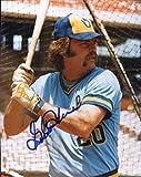 Gorman Thomas Autographed/Original Signed 8x10 Glossy Photo w/the Milwaukee Brewers
