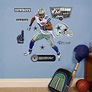 NFL Dallas Cowboys Dez Bryant Fathead Wall Decal, Junior