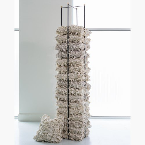 Tall Open Square Pillow Holder Rack | Gold Stacking Organizer Shelf Blanket by Global Views (Image #2)