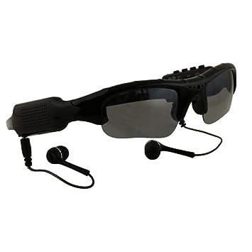 WOTUMEO Multifonctionnels Lunettes de Soleil Lecteur MP3 Mini DV DVR Caméra  Lunettes Vidéo Lunettes Espion Caméra 8e0e1259b3b6