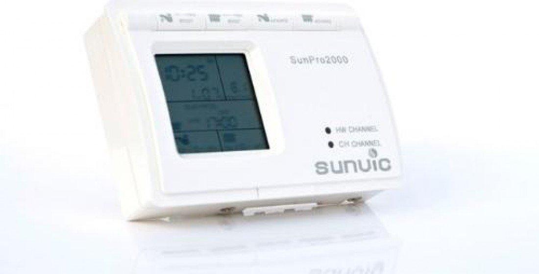 Sunvic SunPro2000 Two Channel Programmer, 230 V, White