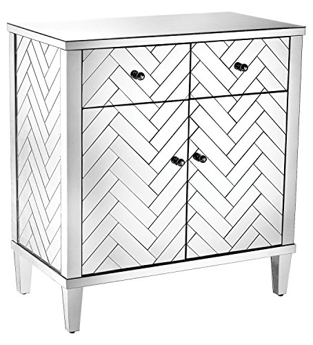 Chatelet Cabinet In Clear Mirror Finish by Sterling Industries