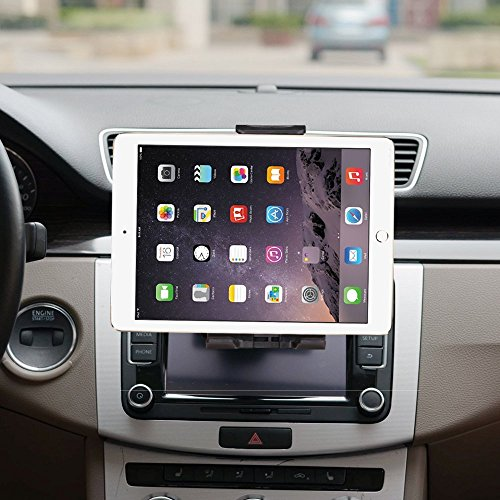 iPad Car Mount, Xnyocn Universal Tablet and Smartphone CD Slot Car Mount Holder Cradle for iPad Pro 9.7, iPad Air mini, Samsung Galaxy Tab S8 S8+, Google Nexus 7, iPhone 8/8 Plus 7/7 Plus & more