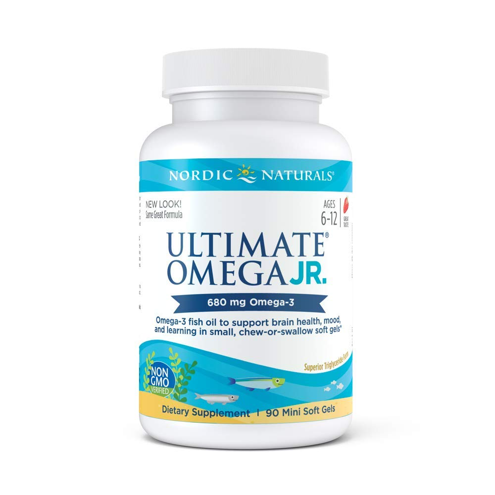 Nordic Naturals Ultimate Omega Junior - Support for a Healthy Heart, Brain and Mood in Developing Children, 90 Count, Strawberry (FFP) by Nordic Naturals
