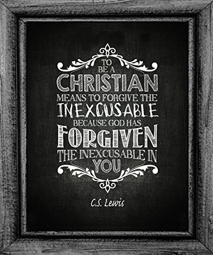 CS Lewis Quote Christian Art Print Inexcusable (Cs Lewis Quote Poster compare prices)