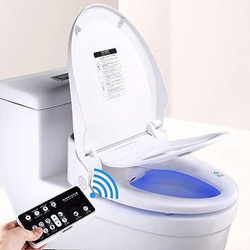 Ecofresh Ef700 Smart Toilet Seat Child Toilet Seat Bidet Elongated Easy Diy Installation Remote Control Adjustable Heated Seat And Water Amazon Com