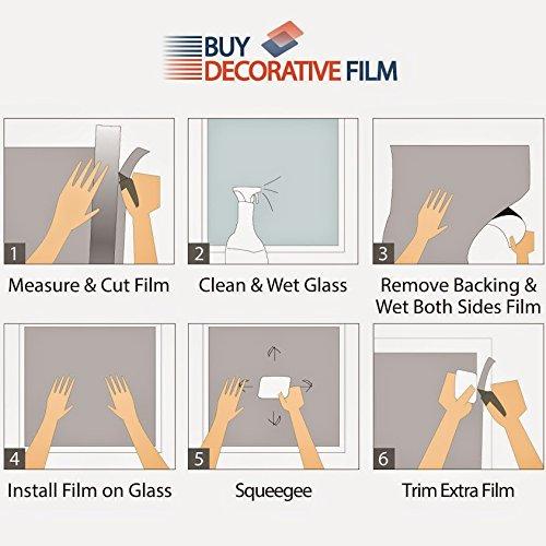 BDF HNC20 Window Film Premium Heat Control and Energy Saving, Chrome (Dark) - 36in X 50ft by Buydecorativefilm (Image #5)