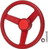 Swing Set Stuff Children's Steering Wheel with SSS Logo Sticker, Red
