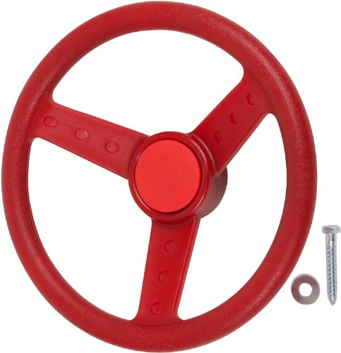 Swing Set Stuff Children's Steering Wheel with SSS Logo Sticker, Red by Swing Set Stuff Inc.