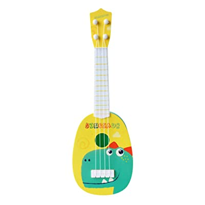 Clothful Kids Plastic Toy Sturdy Ukulele Non-Toxic Musical Instrument Preschool Music: Home & Kitchen