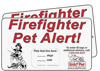 Firefighter Pet Alert Stickers Reflective product image
