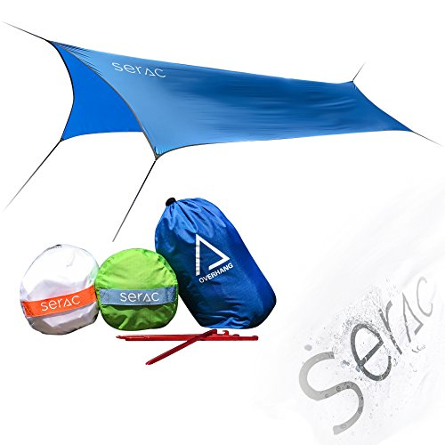Serac [#1 Hammock and Tent Tarp] Ultralight Hammock Rain Fly and Shelter perfect for waterproof camping, lightweight backpacking and portable for travel by
